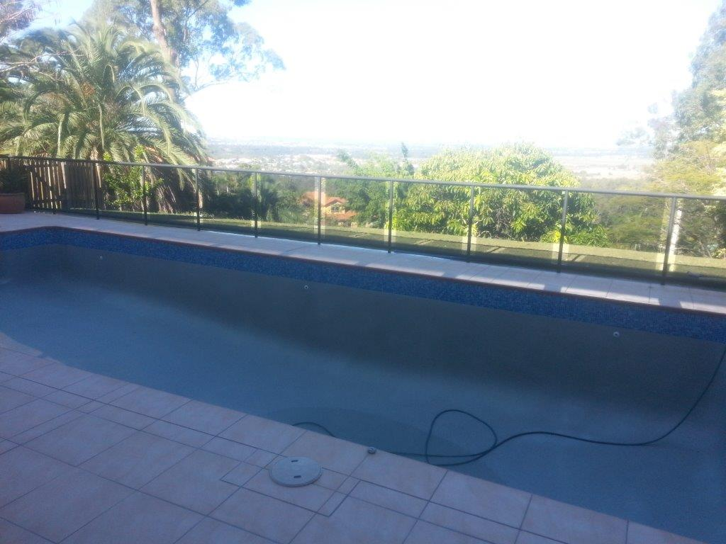 Tallai Blue Glass Pebblecrete Pool Resurfacing – Before
