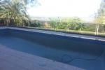 Tallai Blue Glass Pebblecrete Pool Resurfacing – Before